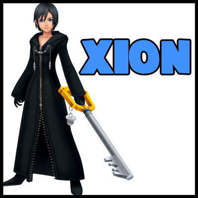 How to Draw Xion from Kingdom Hearts Step by Step Tutorial