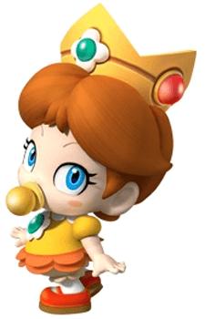 How to Draw Baby Princess Daisy from Wii Mario Kart