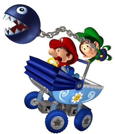 How to Draw Baby Mario and Luigi Team Riding Baby Stroller from Wii Mario Kart