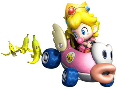 How to Draw Baby Princess Peach Driving Her Car from Wii Mario Kart