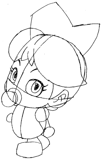 Step 5 : Drawing Baby Daisy Lesson