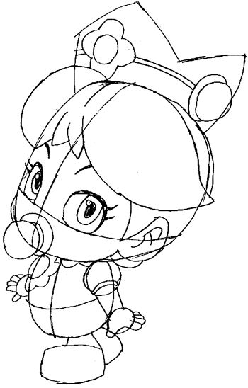 Step 6 : Drawing Baby Daisy Lesson