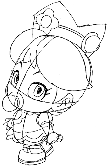 Step 7 : Drawing Baby Daisy Lesson