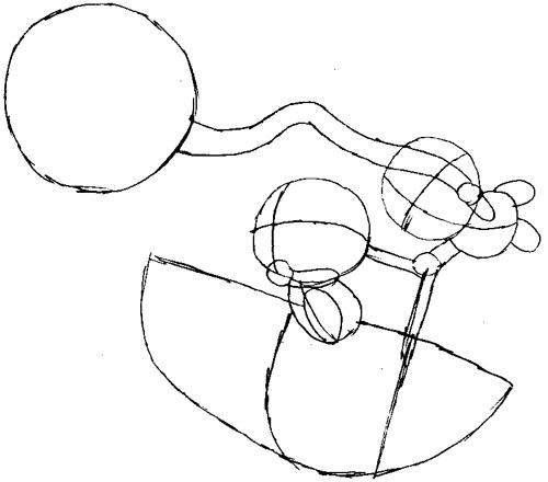 Step 6 : Drawing Baby Mario and Luigi Tutorial