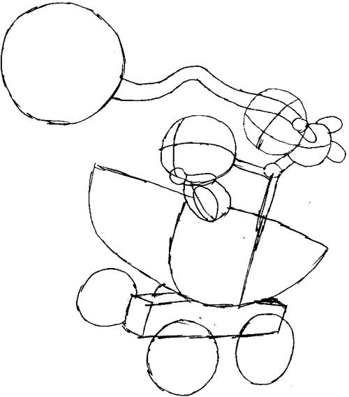 Step 7 : Drawing Baby Mario and Luigi Tutorial