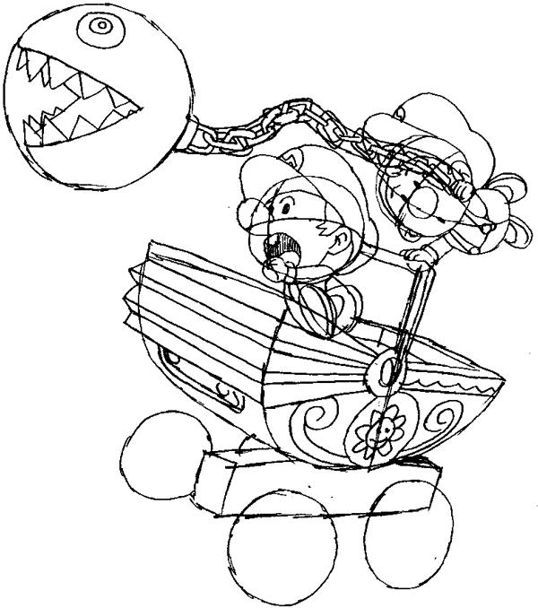 Step 13 : Drawing Baby Mario and Luigi Tutorial