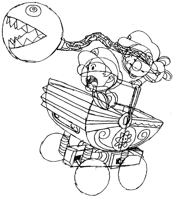 Step 14 : Drawing Baby Mario and Luigi Tutorial