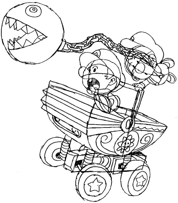 Step 15 : Drawing Baby Mario and Luigi Tutorial