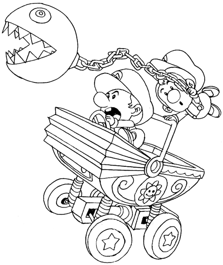 mario coloring pages as babies - photo#16