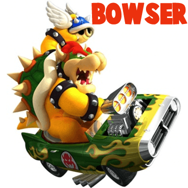 How to Draw Bowser Driving a Car and Throwing a Koopa from Mario Kart