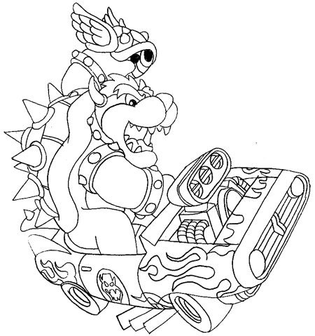 How To Draw Bowser Driving A Car And Throwing A Koopa From Mario Kart Page 3 Of 3 How To Draw Step By Step