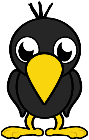 How to Draw Cartoon Baby Crows in Easy Step by Step Lesson