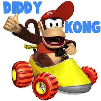How to Draw Diddy Kong Driving His Car from Wii Mario Kart