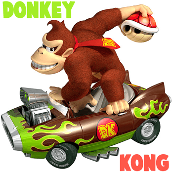 How to Draw Donkey Kong in His Car Throwing a Koopa Shell from Mario Kart