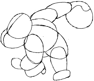 Step 4 : Drawing Donkey Kong in Easy Steps