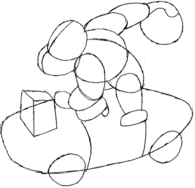 Step 6 : Drawing Donkey Kong in Easy Steps