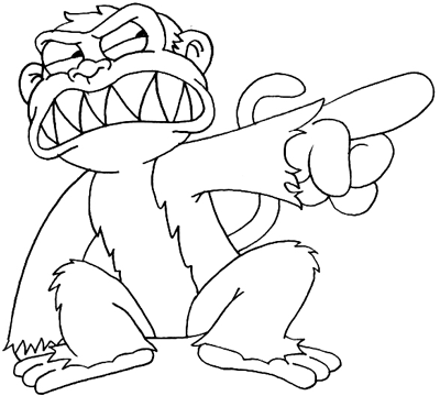 Evil monkeys drawings