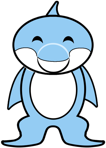 How To Draw Cartoon Dolphins With Easy Step By Step Drawing