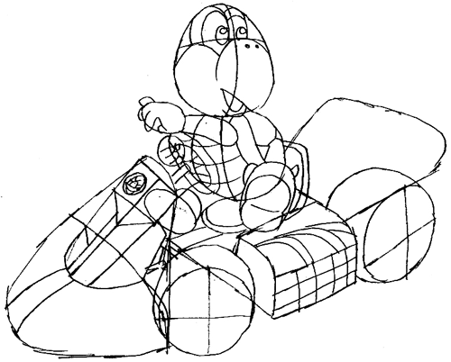 Step 11 : Drawing Koopa Step by Step Lesson