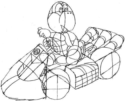 Step 12 : Drawing Koopa Step by Step Lesson