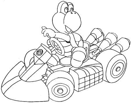 Step 14 : Drawing Koopa Step by Step Lesson
