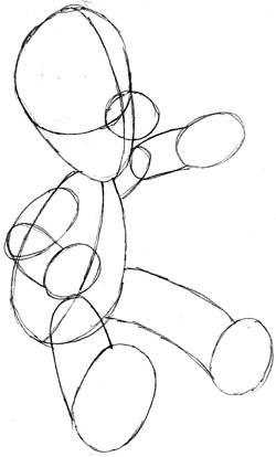 Step 4 : Drawing Luigi in Easy Steps Tutorial