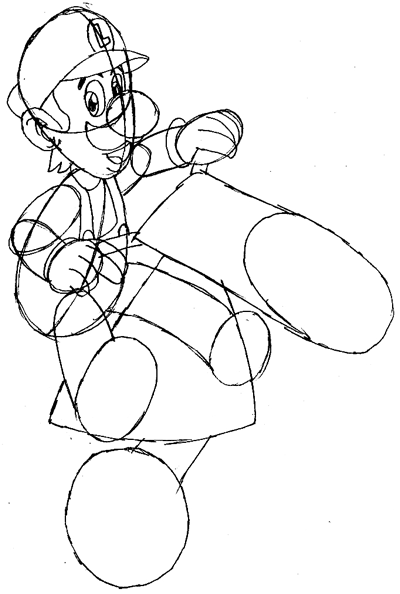 how to draw luigi riding a motorcycle bike from wii mario kart - page 3 of 3