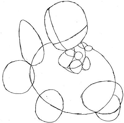 Step 6: Drawing Baby Princess Peach Step by Step Tutorial