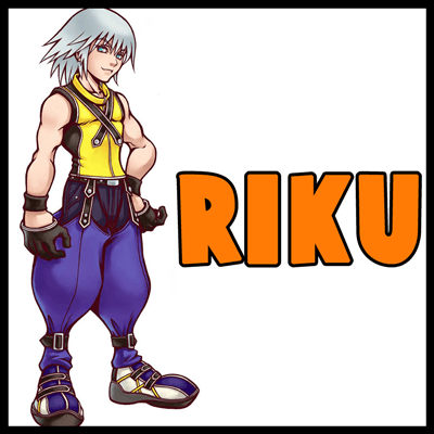 How to Draw Riku from Kingdom Hearts with Simple to Follow Steps