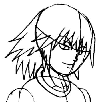 Step 5 : Drawing Riku Step by Step Tutorial