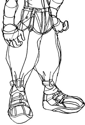 Step 7 : Drawing Riku Step by Step Tutorial