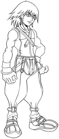 Step 8 : Drawing Riku Step by Step Tutorial