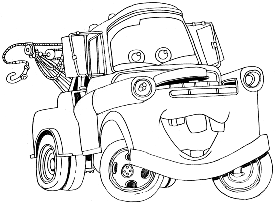 How To Draw Tow Mater From Disney Cars Movie How To Draw