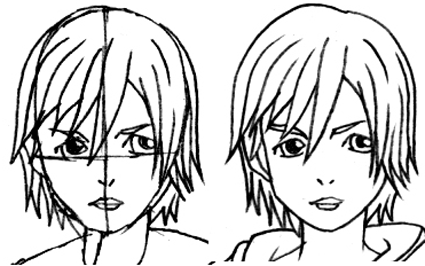 Step 5 : Drawing Xion in Easy Steps Lesson