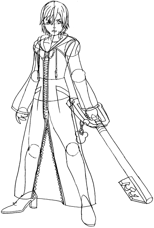 Step 7 : Drawing Xion in Easy Steps Lesson