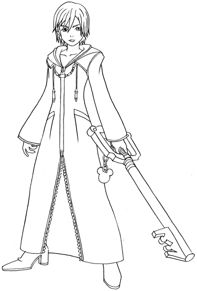 Step 8 : Drawing Xion in Easy Steps Lesson