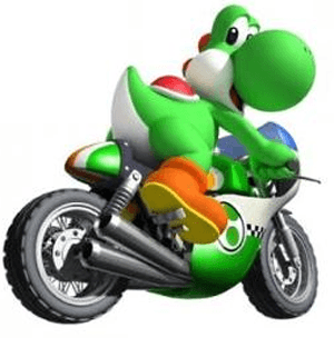 How to Draw Yoshi on Motorcycle from Wii Mario Kart
