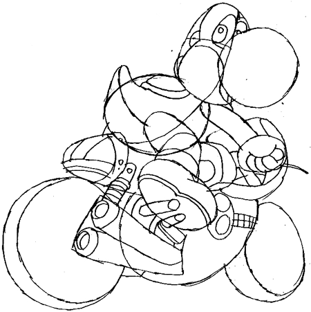 Step 12: Drawing Yoshi in Easy Steps Tutorial