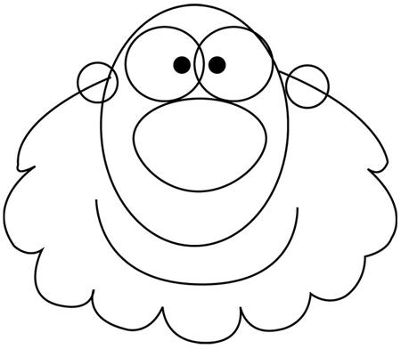 Step 1 : Drawing a Cartoon Caveman with Club Tutorial