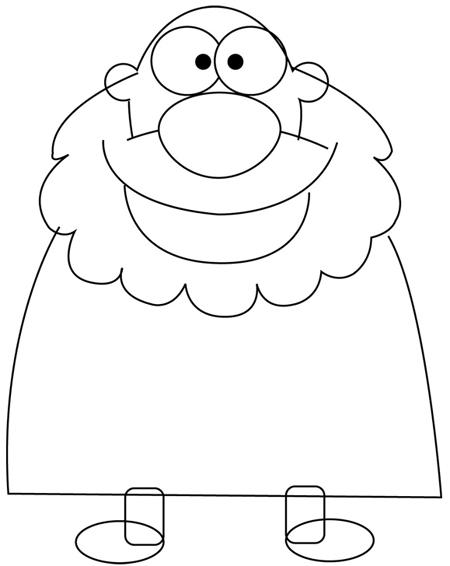 Step 3 : Drawing a Cartoon Caveman with Club Tutorial