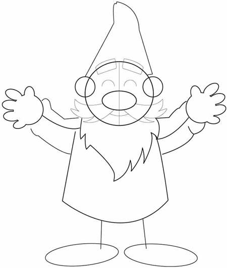 How To Draw Cartoon Gnomes Step By Step Drawing Tutorial Page 2 Of 2 How To Draw Step By Step Drawing Tutorials