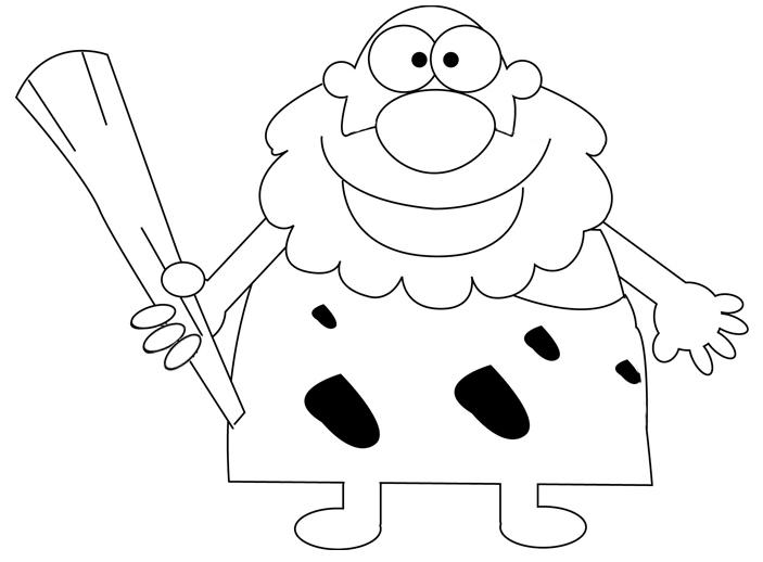 Step 5 : Drawing a Cartoon Caveman with Club Tutorial