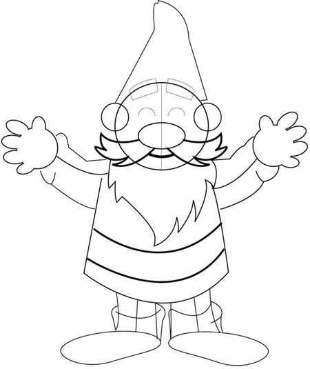 Step 7 : Drawing Garden Gnomes Lessons