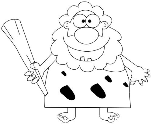 Step 7 : Drawing Cartoon Caveman Tutorial