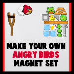 DIY Make Your Own Angry Birds Magnets Set