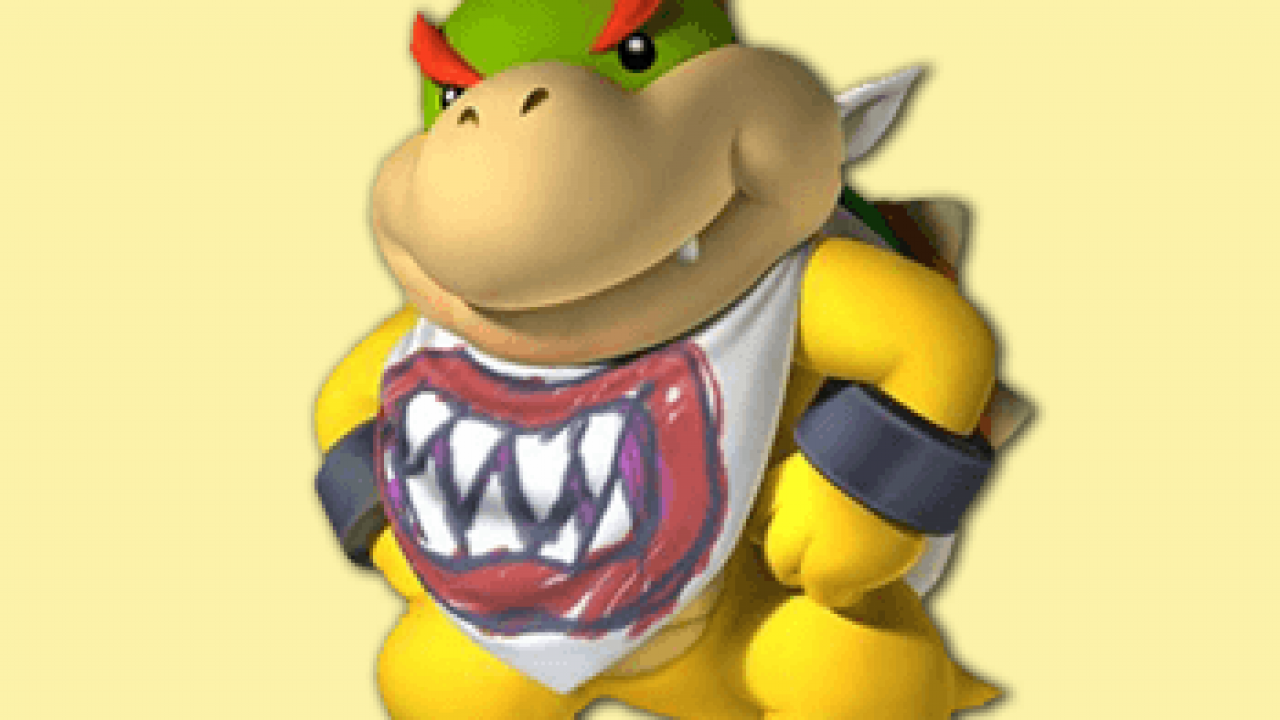 How To Draw Bowser Jr From Mario Kart Wii Step By Step