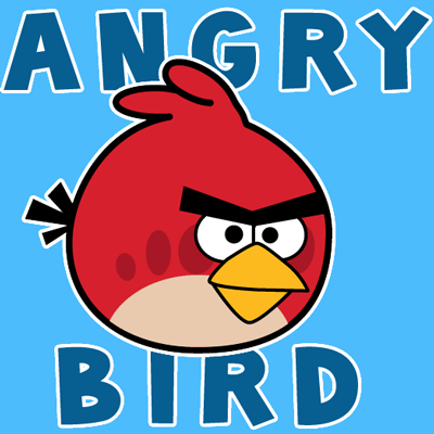 How to draw Red Angry Bird with easy step by step drawing tutorial