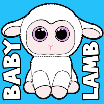 How to draw Stuffed Baby Lamb with easy step by step drawing tutorial