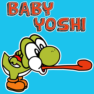 How to draw Nintendo's Baby Yoshi with easy step by step drawing tutorial