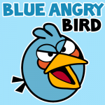 How to draw blue angry bird with easy step by step drawing tutorial